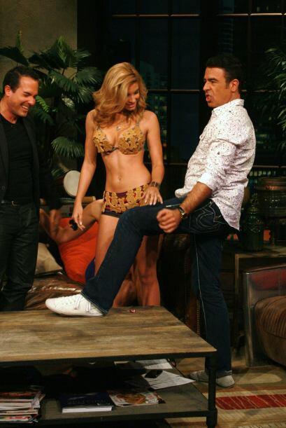 Gabriel se emocionó con los modelistos sexis de las chicas,.