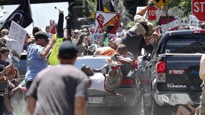 En fotos: Así fue el violento atropello durante una marcha de supremacistas blancos en Charlottesville