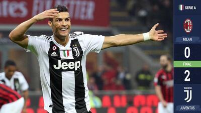 La Juventus derrotó al Milán y ya aventaja por seis puntos al segundo puesto