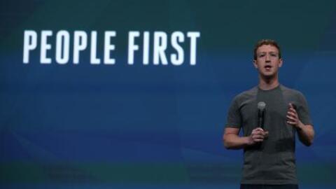 Mark Zuckerberg, fundador de Facebook, en una conferencia de la empresa.