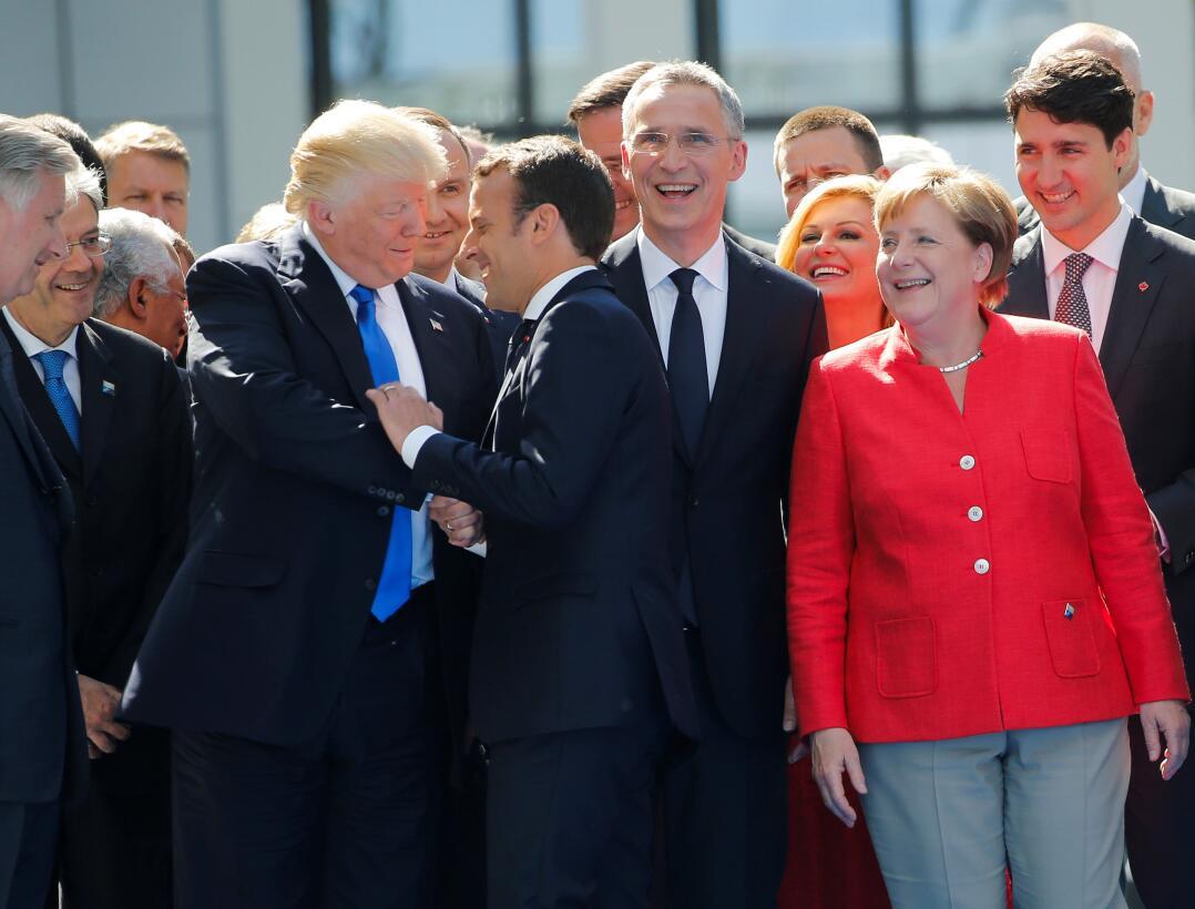 Viaje de Donald Trump greatest Hits Macron