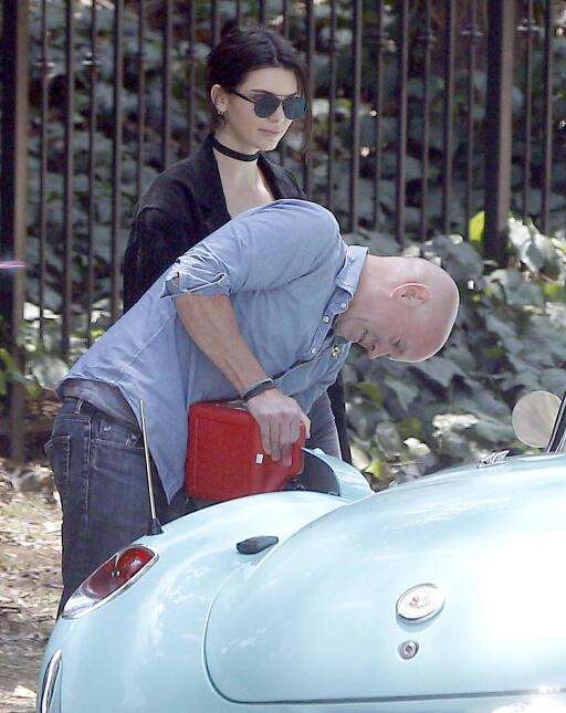 Kendall Jenner se quedó varada.