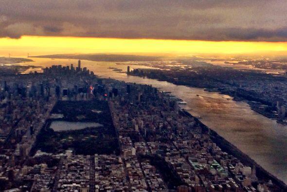 Desde el aire, el Gordo tomó esta fotografía de Manhattan.