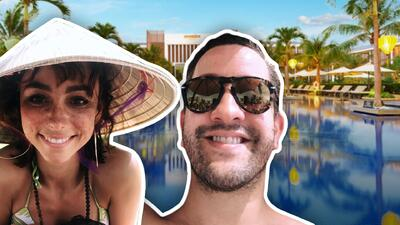 Natalia Téllez y Chumel Torres presumen que ya no quieren ni salir de un lujoso hotel en Asia