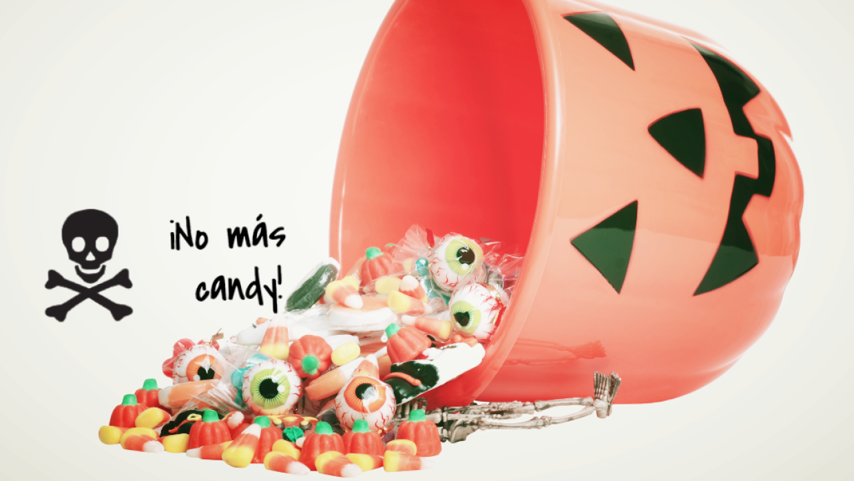 ¡Socorro! No más candy por favor.