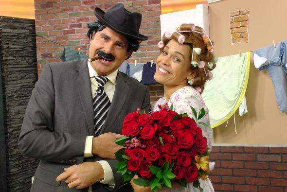 El Profesor Jirafales y Doña Florinda.