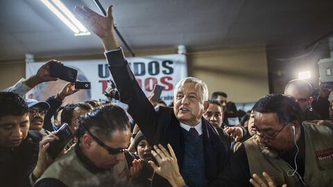 El aspirante a la presidencia de México, Andrés Manuel L&o...