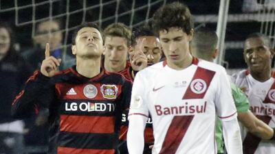 'Chicharito' Hernández marca doblete con el Leverkusen
