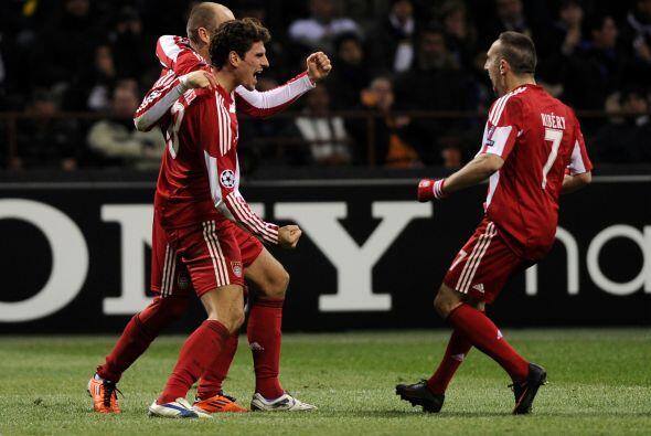 Mario Gómez, atacante del Bayern y de la selección alemana...