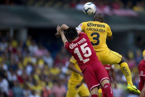 Esta es la imagen del gol que anotó Mosquera.