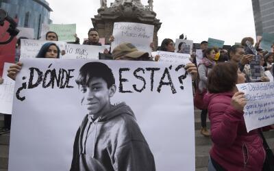 En Ciudad de México hicieron una protesta por la desaparici&oacut...