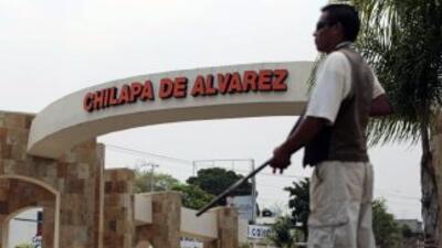 Un civil armado en Chilapa, Guerrero.