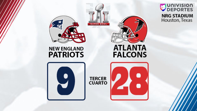 Tercer cuarto Super Bowl