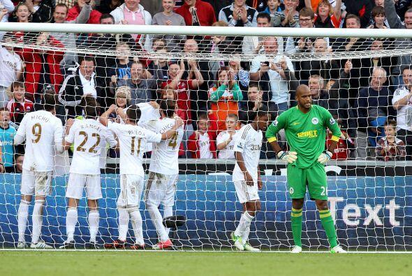El final el Swansea se impuso 3-2 al Wigan.