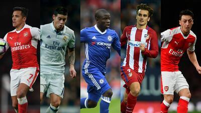 Alexis, James, Kanté, Griezmann y más protagonistas de los rumores más recientes del mercado