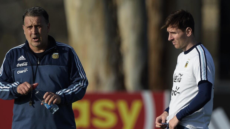 Lionel Messi con el Tata Martino