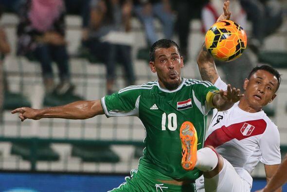 Y Perú le ganó 2-0 a Irak.