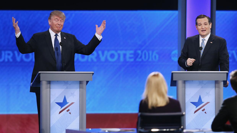 Donald Trump y Ted Cruz