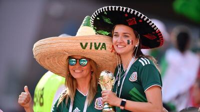 La alegría de las fanáticas en el partido de México contra Suecia