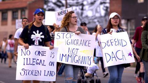 Marcha en Los Ángeles contra la decisión de Trump de termi...