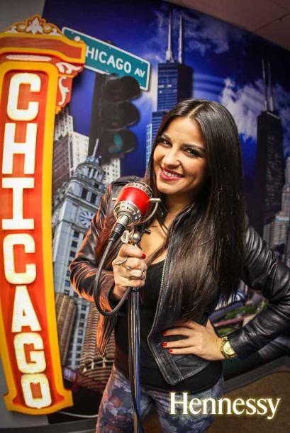La actriz y cantante llegó a Chicago para promocionar su nuevo disco Ecl...