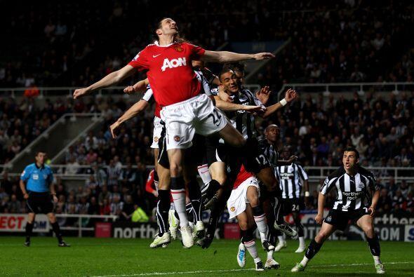 El juego aéreo no fue la mejor arma del United para esta ocasión.