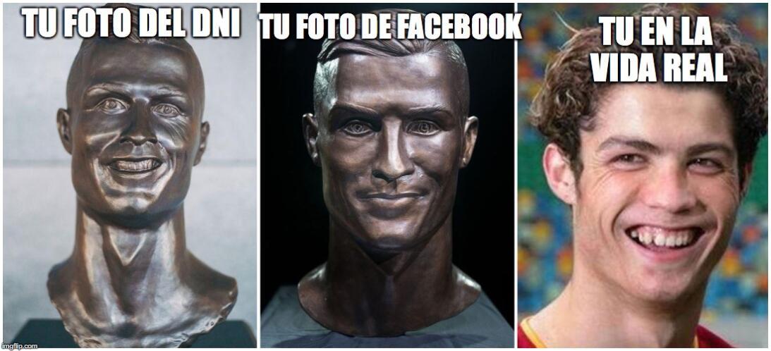 El nuevo busto de Cristiano no se salvó de los divertidos memes 27e9ff.jpg