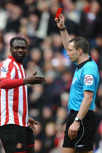 La frustración de los jugadores del Sunderland se vio reflajada con la e...
