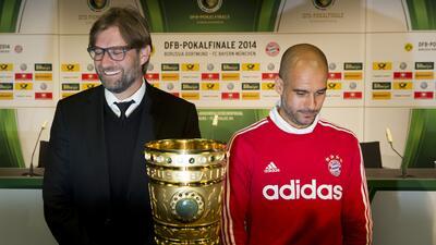 Klopp y Guardiola durante su etapa en la Bundesliga.