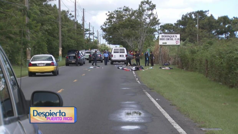Conductor arrolla a un ciclista en la carretera 867 en Toa Baja y se da...