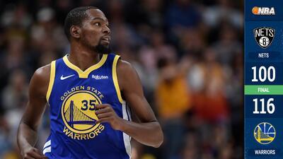 Kevin Durant destaca en triunfo de Warriors sobre Brooklyn Nets