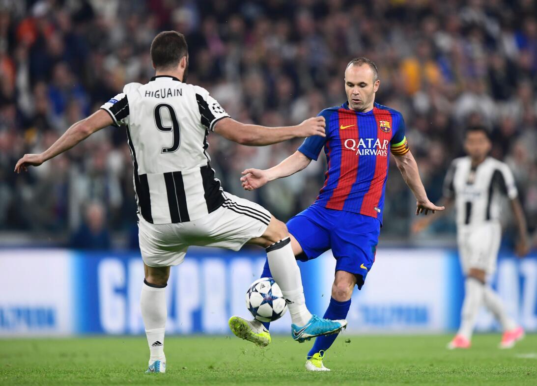 Juventus hizo fiesta contra Barcelona en la Champions League GettyImages...