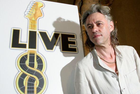 """Geldof fue el creador de """"Live Aid"""" y luego impulsor del """"Live Eight"""". M..."""