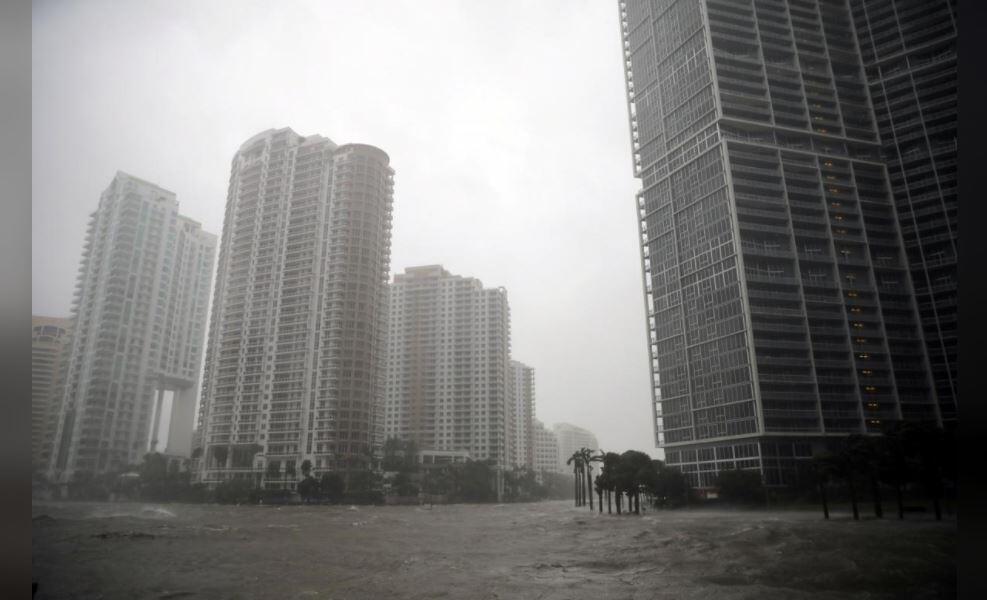 Irma meets downtown Miami