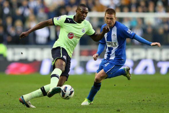 En otro duelo del día, el Newcastle visitó al Wigan.