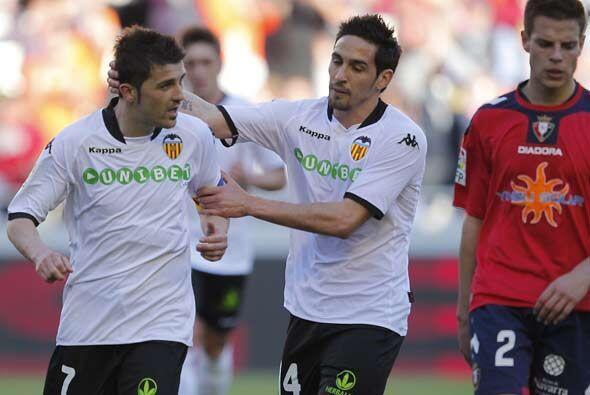 Por su parte, el Valencia superó 3-0 al Osasuna con dos goles incluídos...
