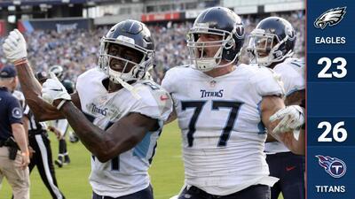 Los Titans le pegan al campeón Eagles en tiempo extra