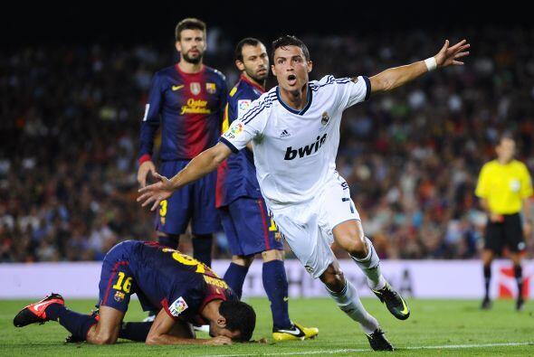 En un tiro de esquina, Cristiano Ronaldo logró su cuarto gol consecutivo...