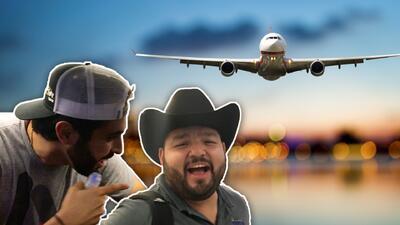Los Compadres del Free-guey show viajaron en avión por primera vez