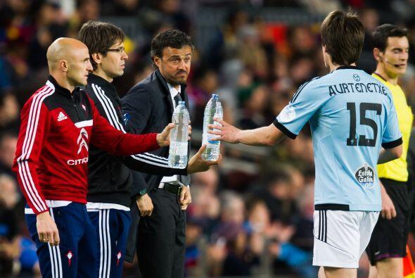 Luis Enrique, técnico del Celta, regresaba al Camp Nou, donde com...