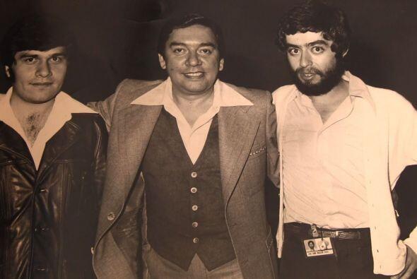 Junto a Marco Antonio Muñiz, uno de sus grandes amigos.