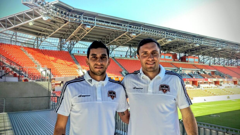 Cristian Maidana conociendo su nueva casa, el BBVA Compass Stadium.