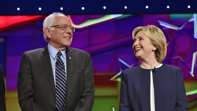 Bernie Sanders y Hillary Clinton