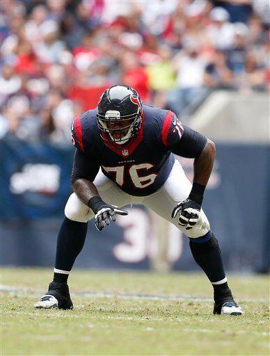 Duane Brown, tackle ofensivo de los Houston Texans (AP-NFL)