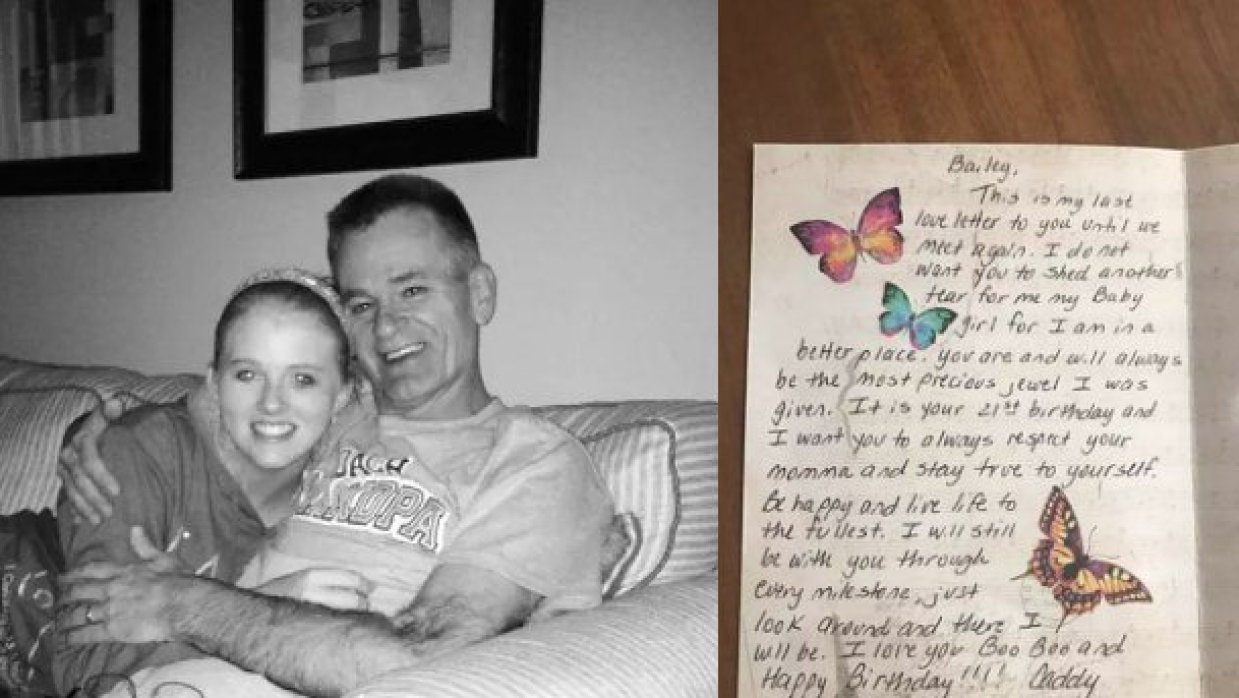 Bailey Sellers, en una foto con su padre, y el último mensaje que recibi...