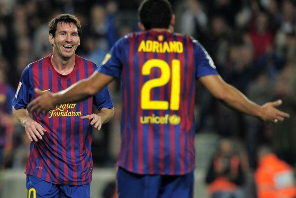 Messi se encuentra hasta el momento como máximo goleador de la liga espa...
