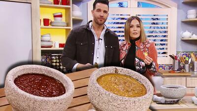 Aprende a preparar dos salsas molcajeteadas en tan solo tres minutos y pon el toque picante en tu mesa