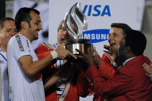 El Santos salió campeón de la Libertadores por tercera vez...