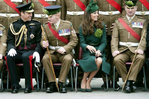 San Patricio es el patrón de Irlanda y es por eso que los Duques de Camb...