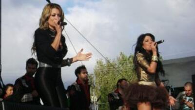 Las chicas de Horóscopos de Durango pusieron al público a bailar.